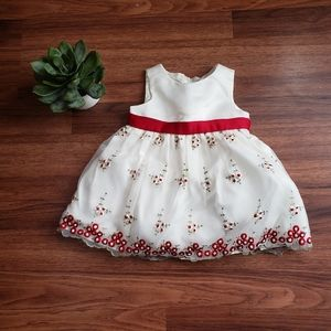 White & Red Formal Dress 9 Months